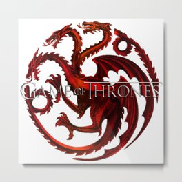 Dragon Iron Throne Metal Print