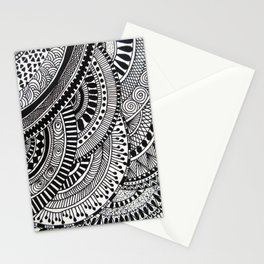 Circle Patterns Stationery Cards