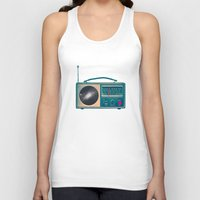 radio Tank Tops featuring Space Radio by Victor Vercesi