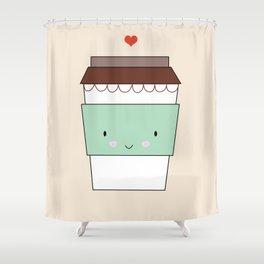Bring coffee Shower Curtain