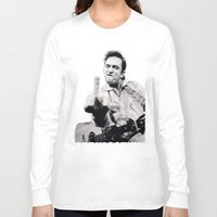 springsteen Long Sleeve T-shirts featuring Johnny Springstien by celesteolds