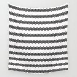 Black decorative stripes on white. Wall Tapestry