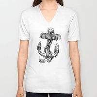 anchor V-neck T-shirts featuring Anchor by pakowacz