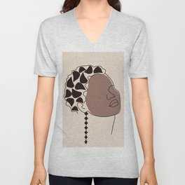 African American women face colors of beauty Unisex V-Neck