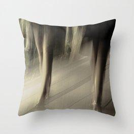 High Line sexy legs Throw Pillow