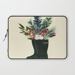 Christmas Boot Floral Bouquet No Text Laptop Sleeve