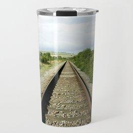 Train Tracks Travel Mug