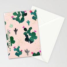 Cactus Desert Pink Dusk Moon Stationery Cards