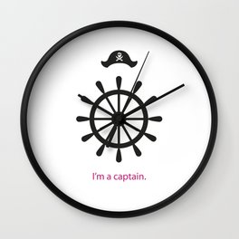 I'm a captain.(on white) Wall Clock