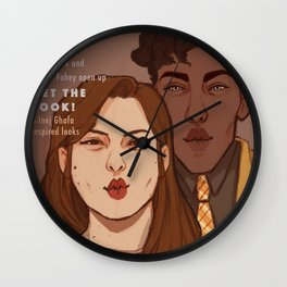 Nina and Jesper cover Wall Clock