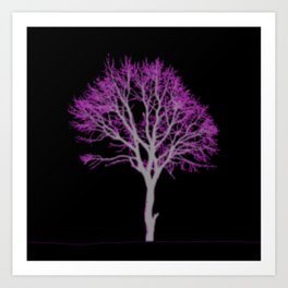 Electric Tree 01 Art Print