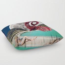 Octopus in the pool Floor Pillow