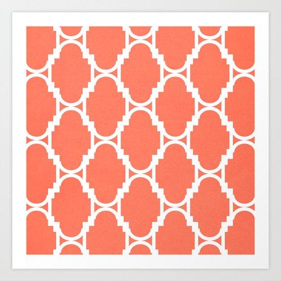 Pillow Talk- Coral Art Print