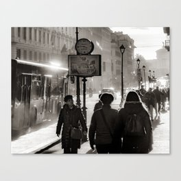 Urban Scene Street View, Rome, Italy Canvas Print