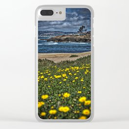 Daisies Vertical, Sunset Cliffs, San Diego Clear iPhone Case