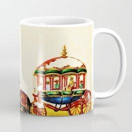 Classical Masterpiece 1820 'Maharaja Elephant-drawn Carriage, Bombay, Indian - Artist Unknown Coffee Mug
