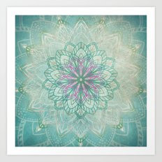 Mermaid Mandala Art Print