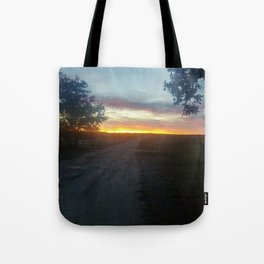 texas farm road  Tote Bag