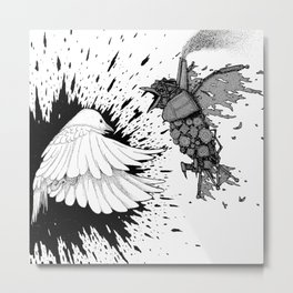 Polar Fight Metal Print