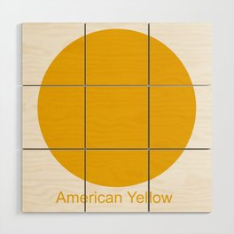American Yellow Wood Wall Art