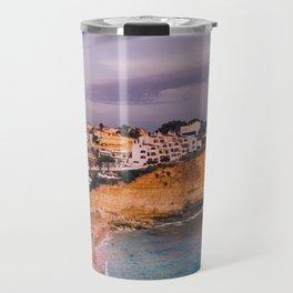 Carvoeiro town and beach in Lagoa, Algarve, Portugal. Travel Mug
