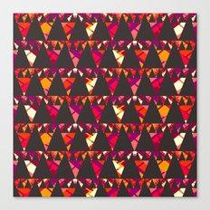 Vibrant triangles Canvas Print