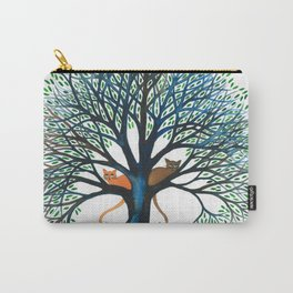 Corozal Whimsical Cats in Tree Carry-All Pouch