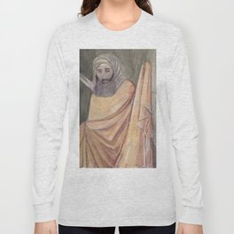 Reproduction of a Section of The Trial By Fire Fresco by Giotto Long Sleeve T-shirt