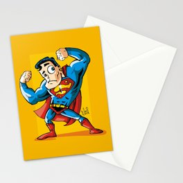 Strong man in Costume Stationery Cards