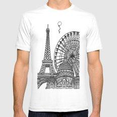 Paris Silhouettes White MEDIUM Mens Fitted Tee