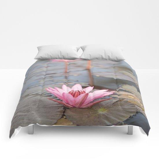 Three Lotus Flowers Comforters