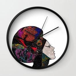Space Hair Wall Clock