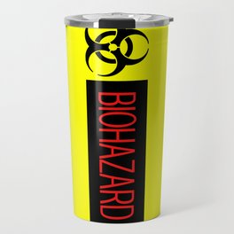 HAZMAT: Biohazard (Red, Black & Yellow) Travel Mug