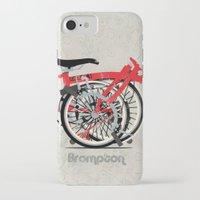 brompton iPhone & iPod Cases featuring Brompton Bike by Wyatt Design