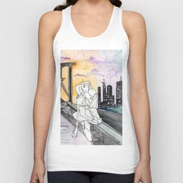 Bridge Kiss Unisex Tank Top