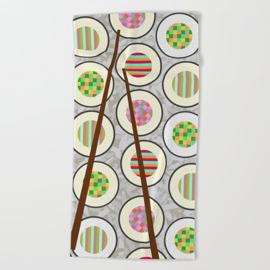 SushiTime Beach Towel