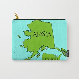 Alaska and the Lower 48 Forty-eight Carry-All Pouch