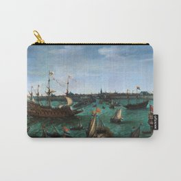 """Hendrik Cornelisz Vroom """"The Arrival of Elector Frederick V of the Palatinate and Elizabeth"""" Carry-All Pouch"""
