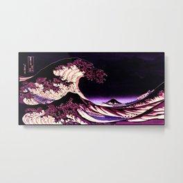 The Great WAVE Eggplant Purple Metal Print