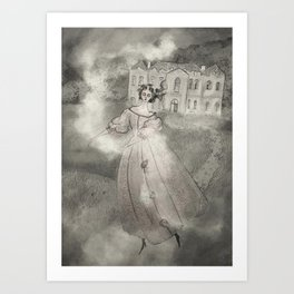 Fog Dance at Château de Gudanes Art Print