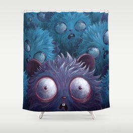 The Curse of the Blue Gamusinos Shower Curtain