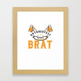 Funny Official Oktoberfest Brat Inspector Bratwurst Framed Art Print