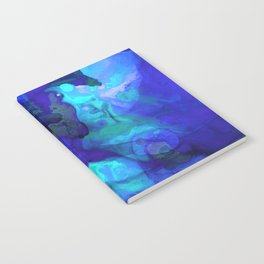 Violet Blue - Abstract Art By Sharon Cummings Notebook