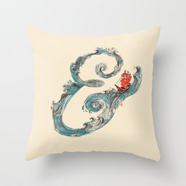 Water Ampesand Throw Pillow