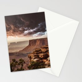 dramatic sky in moab Stationery Cards