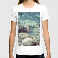 swimming T-shirts featuring SWIMMING by Marte Stromme