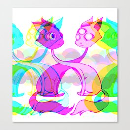 Head transplant cats Canvas Print