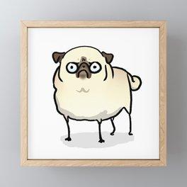 Angry pug - fawn Framed Mini Art Print