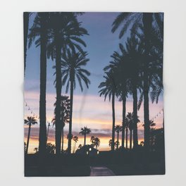 SUNRISE - SUNSET - PALM - TREES - NATURE - PHOTOGRAPHY Throw Blanket