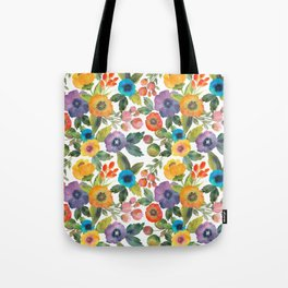 Scattered Poppies Tote Bag